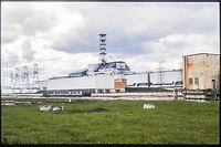 La centrale nucléaire de Tchernobyl en Ukraine en mai 1995. ©H. RAGUET PHANIE