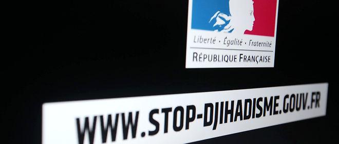 """Capture d'écran d'une vidéo diffusée sur la plateforme """"Stop djihadisme""""."""
