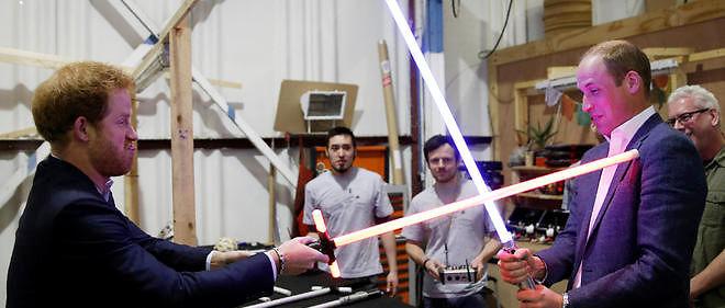 Harry et William sur le tournage de Star Wars 8.