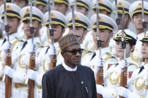 Le président nigérian Muhammadu Buhari, à Pékin le 12 avril 2016 © WANG ZHAO AFP