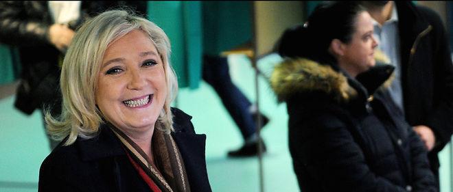 Marine Le Pen en tête des sondages chez les jeunes.