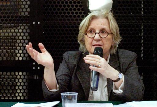 Martine Storti, présidente de Féminisme et geopolitique, le 10 mars 2010 à Paris © OLIVIER LABAN-MATTEI AFP/Archives
