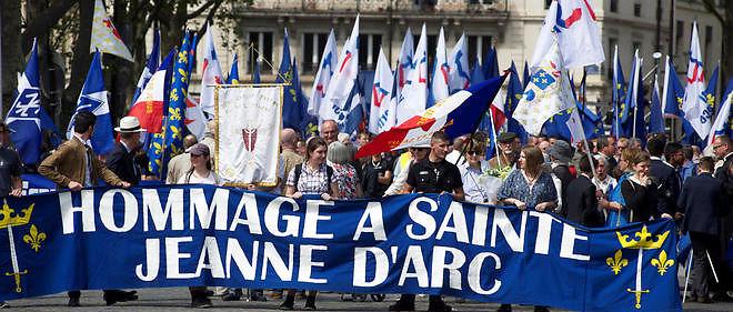 Manifestation d'extrême droite le 8 mai.