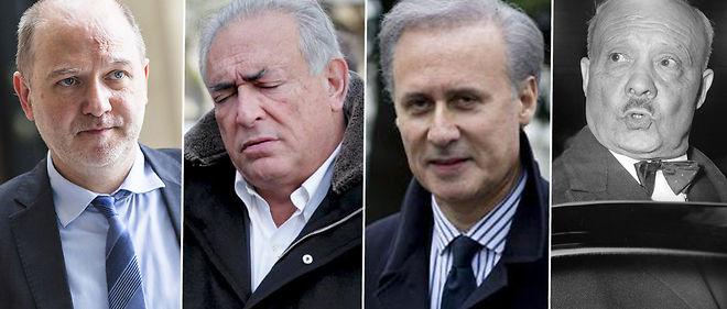 De gauche à droite, Denis Baupin, DSK, Georges Tron et André Le Troquer