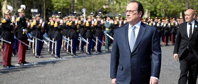 Le président de la République François Hollande lors des cérémonies du 8 mai 2016, les dernières du quinquennat.