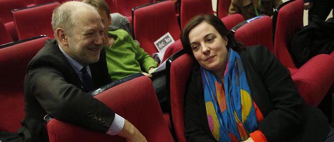 Denis  Baupin et Emmanuelle Cosse, un couple dans la tourmente.