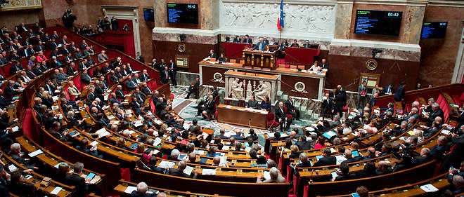 L'hémicycle de l'Assemblée Nationale lors d'une question au gouvernement.