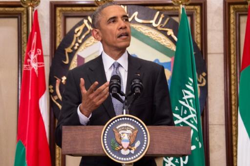 Le président américain Barack Obama prononce un discours à Riyad le 21 avril 2016 © Jim Watson AFP/Archives
