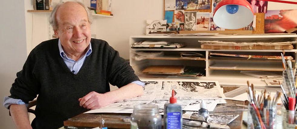 Jean-Claude Mézières dans son atelier.