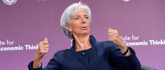"""""""Ce n'est pas une question intérieure, c'est une question internationale"""", a estimé Christine Lagarde en évoquant le Brexit."""