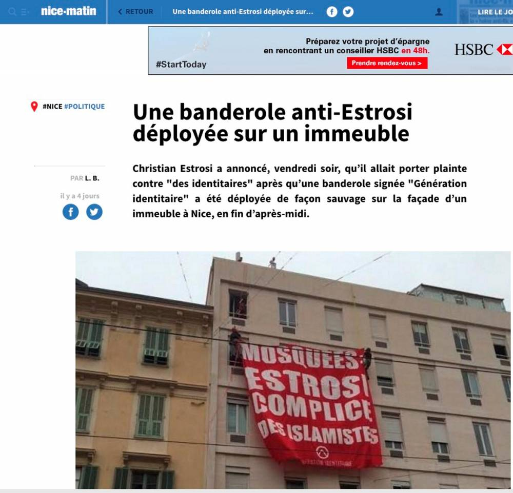 Banderole Estrosi ©  Capture d'écran / Nice Matin