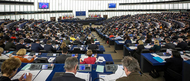 L'hemicycle du Parlement europeen a Strasbourg.