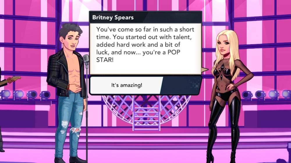 Britney nous aide à devenir une popstar ©  Glu mobile