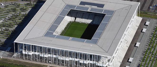 Vue aérienne du nouveau stade de Bordeaux : un délicat enjeu sécuritaire.