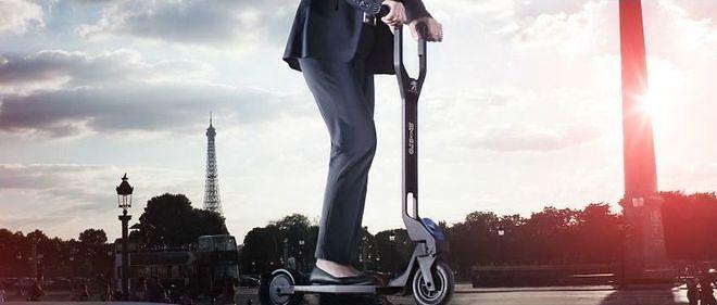 La trottinette électrique e-Kick s'inspire de cette machine vue à Francfort
