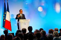 << Nous avons sanctuarise le credit impots recherche pour favoriser l'innovation >>, s'est felicite lundi 23 mai Francois Hollande, en celebrant en grande pompe << la nouvelle France industrielle >>. (C)FRANCOIS MORI