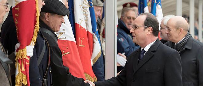 François Hollande lors de la commémoration de la fin de la guerre d'Algérie le 19 mars 2016.