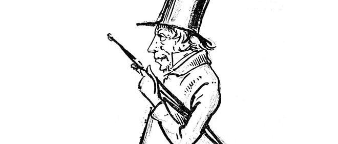 Kierkegaard, caricature de Wilhelm Marstrand.