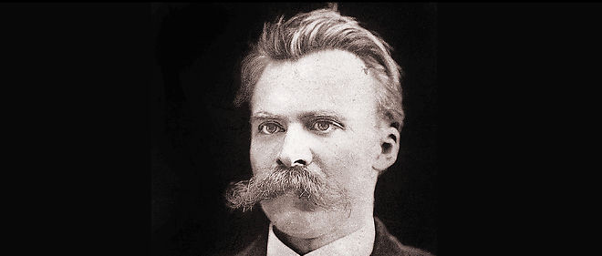 Friedrich Nietzsche (1844-1900) photographié en 1874 par F. Hartmann.
