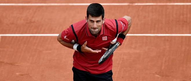 Le Serbe Novak Djokovic lors de son premier match à Roland-Garros 2016.