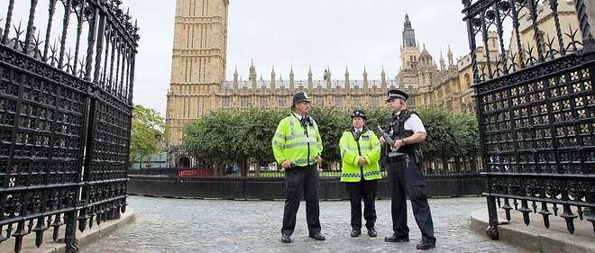 Des officiers de police britanniques. (Photo d'illustration).