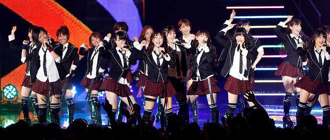 Le groupe de pop japonaise AKB48, l'un des plus célèbres groupes d'idoles dans l'archipel.