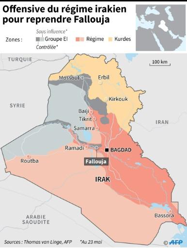 Offensive du régime irakien pour reprendre Fallouja © Jean Michel CORNU, Simon MALFATTO AFP