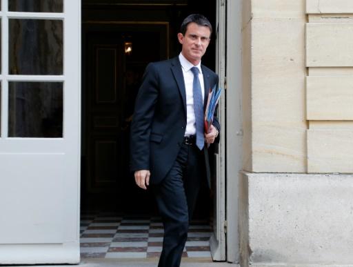Le Premier ministre Manuel Valls quitte Matignon à Paris, le 28 mai 2016 © FRANCOIS GUILLOT AFP/Archives