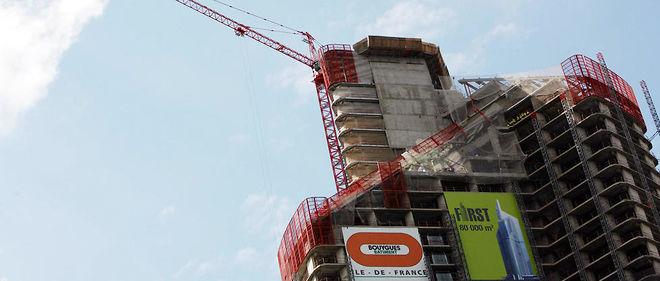 Un chantier à La Défense à Paris (image d'illustration).