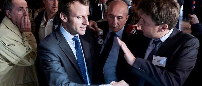 Le sénateur-maire PS de Lyon, Gérard Collomb, a déroulé jeudi le tapis rouge au ministre de l'Économie Emmanuel Macron.