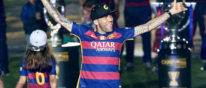 Dani Alves va quitter le Barça après avoir remporter toutes les compétitions avec le club catalan en huit ans. (©Quique Garcia /MaxPPP)