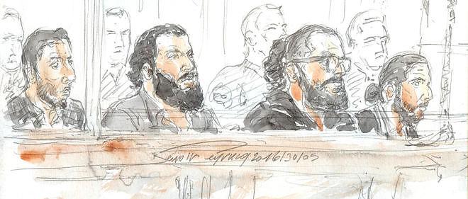 Le procès se déroule jusqu'au 7 juin. Croquis d'audience du 30 mai 2016.