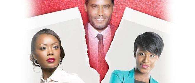 """Affiche de la série ivoirienne à succès """"Soeurs ennemies"""" diffusée sur la RTI, la télévision nationale."""