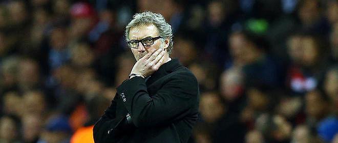 Laurent Blanc lors du match contre Manchester City en 1/4 de finale de Ligue des champions.