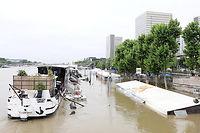 La Seine est arrivée au maximum de sa crue.Elle affiche 6 mètres à Austerlitz ce vendredi matin. ©Pauline Tissot