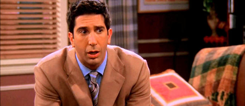 "David Schwimmer incarne Ross Geller dans ""Friends""."