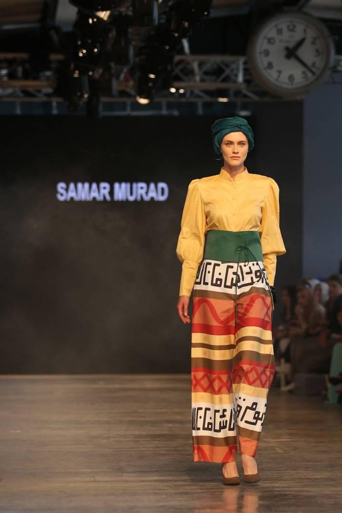 Un modèle défile au Modest Fashion Week d'Istanbul de mai 2016.  ©  Mohammed Elshamy / Anadolu Agency