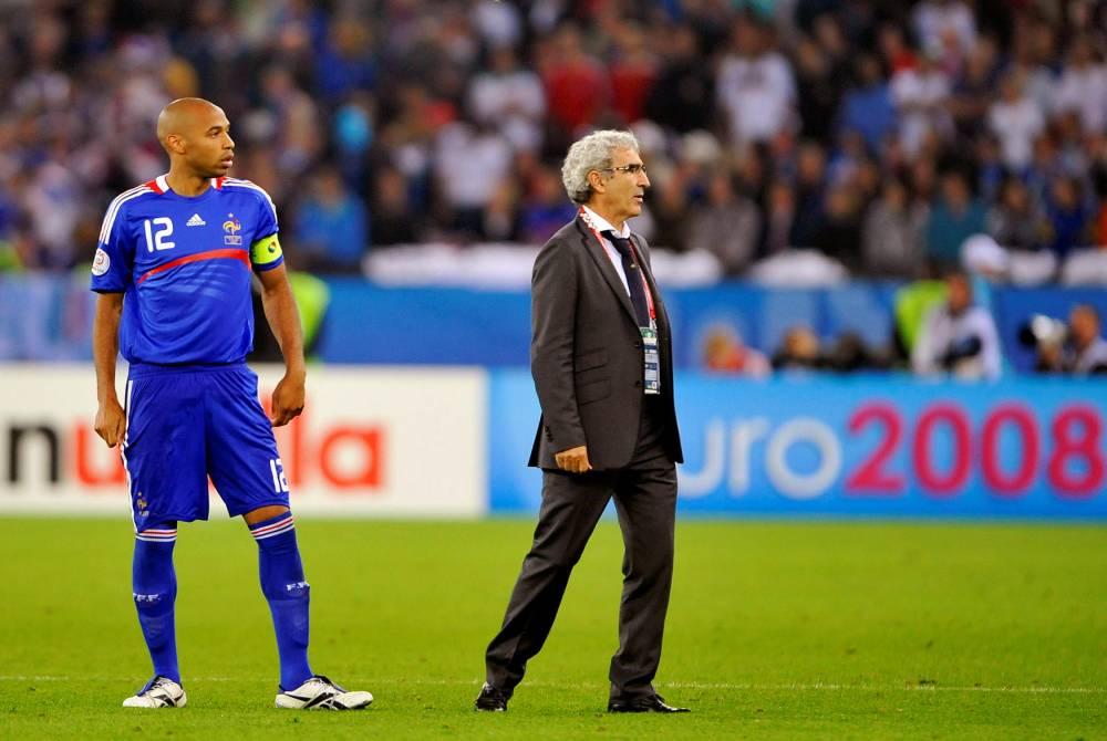 Domenech et le fiasco de l'Euro 2008 © FRANCK FIFE AFP