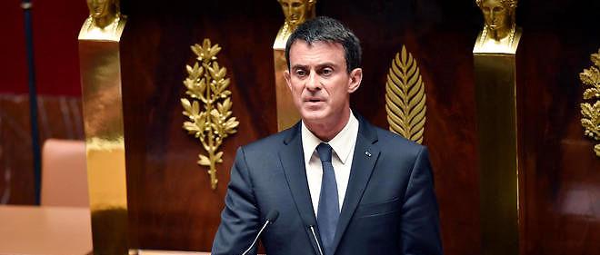 Le Premier ministre devant l'Assemblée nationale.