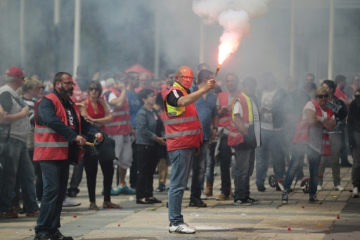 Manifestation au Havre contre la loi travail le 26 mai 2016 © CHARLY TRIBALLEAU AFP/Archives