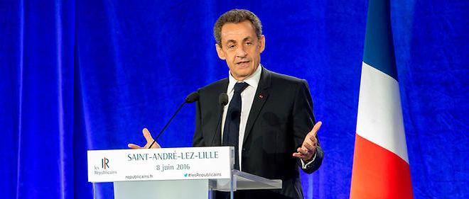 Nicolas Sarkozy tenait meeting à Saint-André-lez-Lille, mercredi soir.