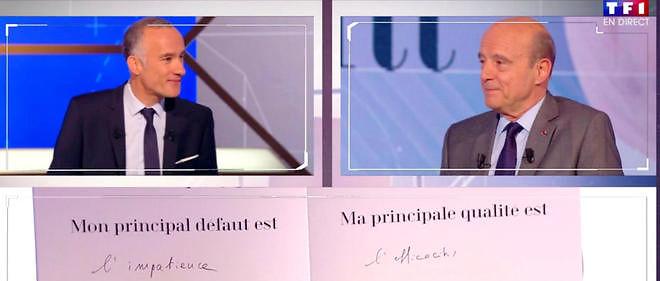Alain Juppé était l'invité de Gilles Bouleau sur TF1.