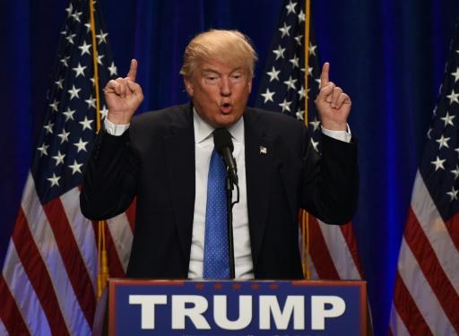 Donald Trump lors d'un meeting dans le New Hampshire, le 13 juin 2016 © TIMOTHY A. CLARY AFP