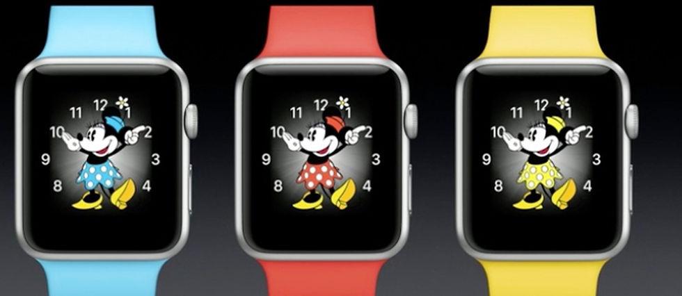 Après Mickey, parité oblige, au tour de Minnie de s'inviter sur le cadran de l'Apple Watch...