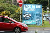 Une affiche anti-Brexit pour tenter de convaincre les Anglais de demeurer dans l'Union européenne. ©PAUL FAITH