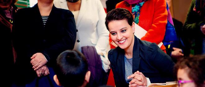 """La ministre de l'Éducation nationale, Najat Vallaud-Belkacem, à qui Jean-Paul Brighelli reproche la disparition de l'apprentissage du """"par coeur""""."""