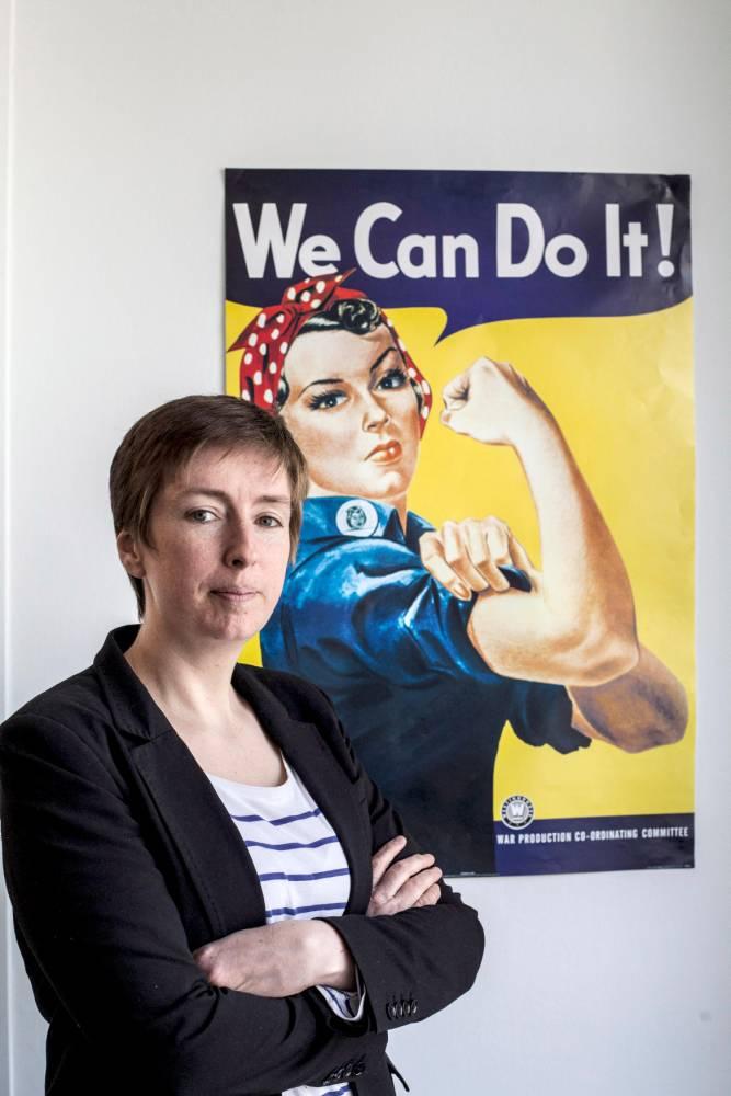 Caroline De Haas, militante feministe © Jean Luc LUYSSEN/REA