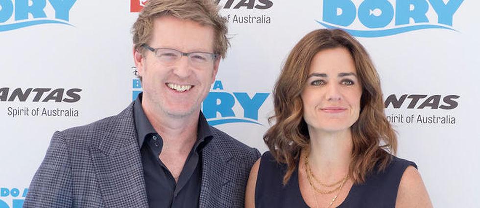 """Le réalisateur Andrew Stanton et la productrice Lindsey Collins, déjà partenaires pour """"Le Monde de Nemo, ont reformé leur duo pour """"Le Monde de Dory""""."""