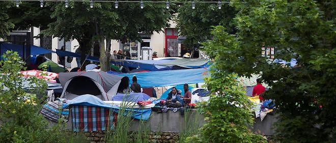Campement de migrants dans les Jardins d'Éole à Paris le 4 juin 2016 dans le 18e arrondissement de Paris. (Photo d'illustration).