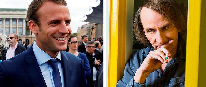 Emmanuel Macron et Michel Houellebecq, une conversation à tu et à toi à Bercy.